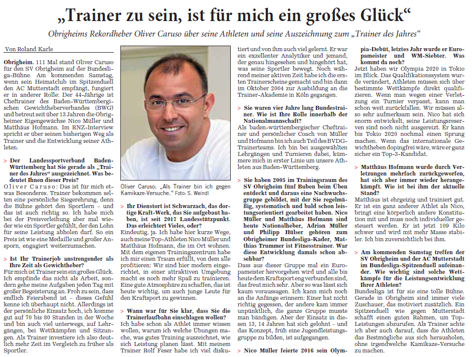 Quelle: Rhein-Neckar-Zeitung, 75. Jahrgang / Nr. 38 Donnerstag, 14. Februar 2019